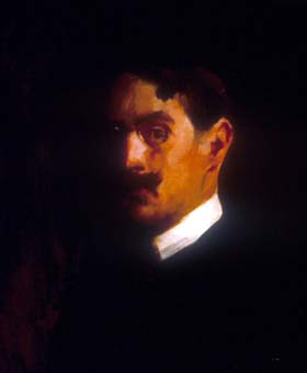 Edmund Charles Tarbell, Self-Portrait, 1889, oil on canvas, 21x17 1/8 inches, National Academy of Design, New York